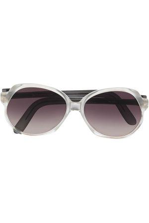 Yves Saint Laurent 1980s gradient oversize-frame sunglasses - Neutrals
