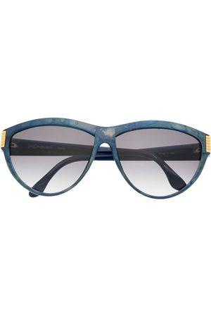 Yves Saint Laurent 1980s logo detail gradient round-frame sunglasses
