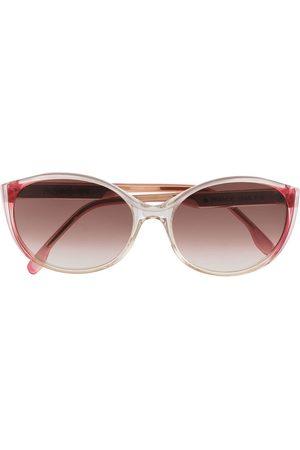 Yves Saint Laurent 1980s gradient round-frame sunglasses