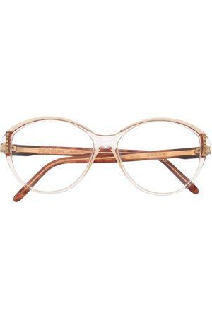 Yves Saint Laurent 1980s tortoiseshell round-frame glasses - Neutrals
