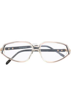Yves Saint Laurent 1980s oval-frame glasses