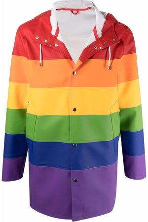 Stutterheim Stockholm rainbow-print raincoat