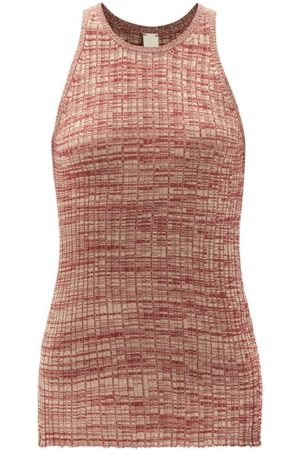 Petar Petrov Ela Ribbed Silk Top - Womens
