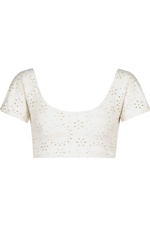 ERES Version broderie anglaise crop top
