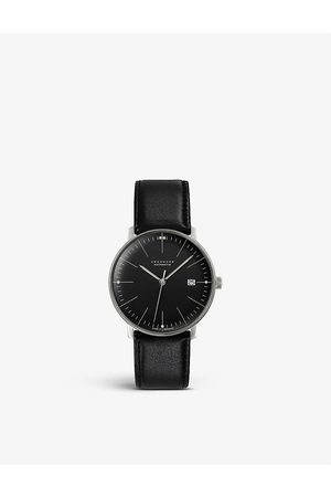 Junghans Men Watches - 027/4701.02 Max Bill stainless steel and leather automatic watch