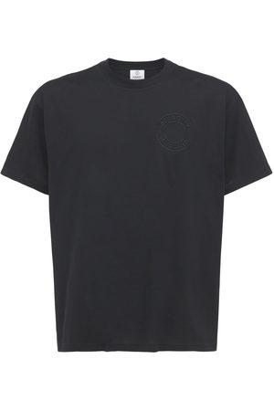 Burberry Logo Embroidery Organic Cotton T-shirt