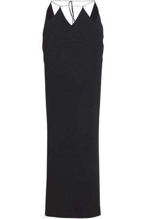Monot Women Maxi Skirts - Cut-out Silk Satin Long Skirt