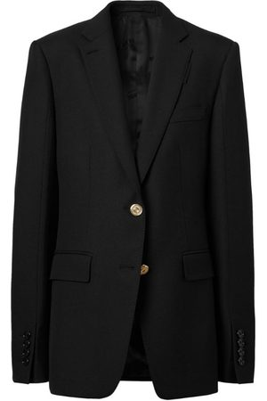 Burberry Wool-Blend Tailored Suit Jacket
