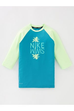 Nike Girls Palm Logo Short Slv Hydroguard
