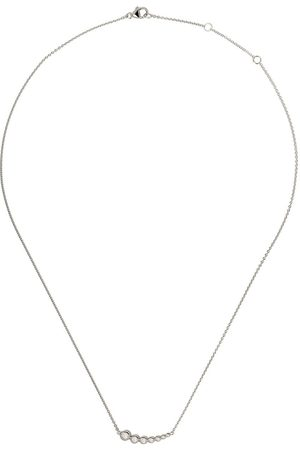 Georg Jensen Women Necklaces - 18kt white gold Aurora diamond pendant necklace - COLOR