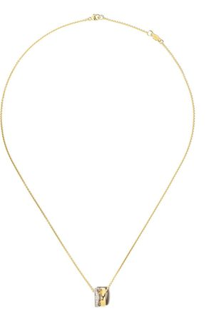 Georg Jensen Women Necklaces - 18kt yellow and 18kt white Fusion diamond open pendant necklace - color
