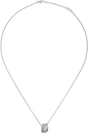 Georg Jensen Women Necklaces - 18kt white gold Fusion pavé diamond open pendant necklace - COLOR