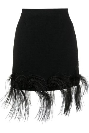 Patou Feather trim mini skirt