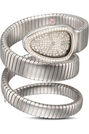 MAD Paris Women Watches - Customised pre-owned Bvgari Serpenti Tubogas watch