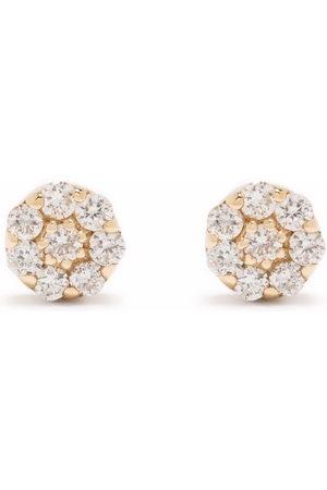 Dinny Hall 14kt yellow Shuga mini pave diamond stud earrings