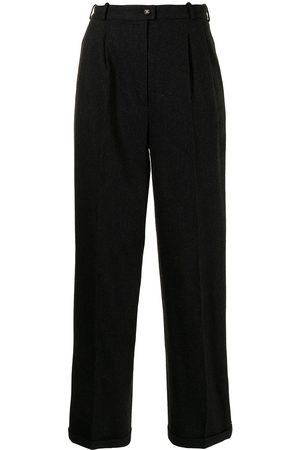 CHANEL Side-logo tailored trousers