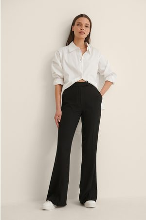 NA-KD Flared Tailored Suit Pants - Black