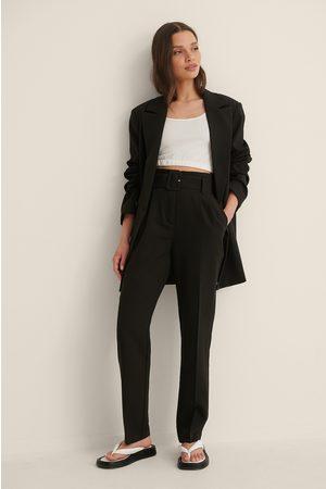 NA-KD Belted Suit Pants - Black