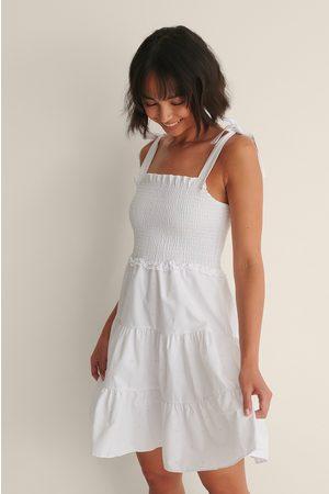 Trendyol Knot Detail Shoulder Dress - White