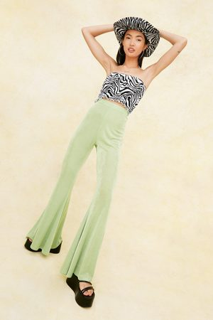 NASTY GAL Womens High Waisted Slinky Extreme Flare trousers