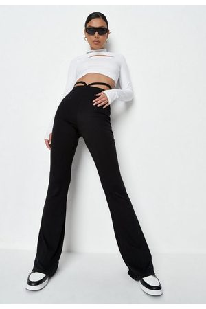 Missguided Strap Front Flared Trousers