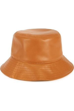 Loewe Women Hats - Logo Leather Bucket Hat