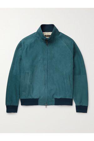 Loro Piana Men Leather Jackets - Rain System Suede Bomber Jacket