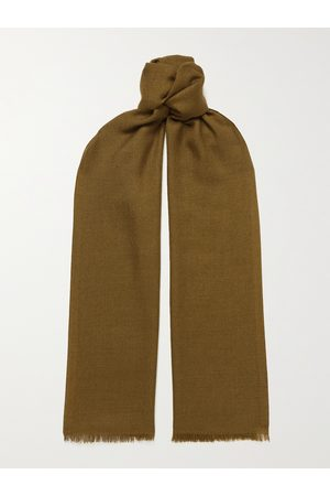 Loro Piana Men Scarves - Fringed Cashmere and Silk-Blend Scarf