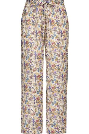 Etro Women Trousers - Floral ramie pants