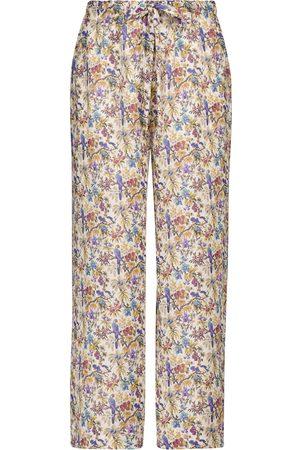 Etro Women Trousers - Floral ramie pants