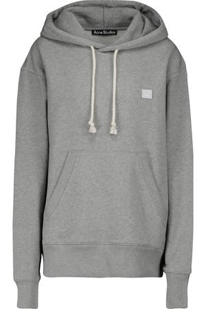 Acne Studios Women Hoodies - Fennis Face cotton hoodie