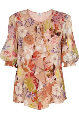 Etro Floral silk georgette blouse