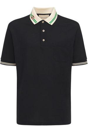 Gucci Men Polo Shirts - Interlocking G Cotton Piquet Polo