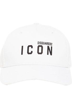 Dsquared2 Men Hats - Icon Thick Print Cotton Gabardine Cap