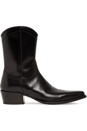 DSQUARED2 Men Cowboy Boots - Leather Western Boots