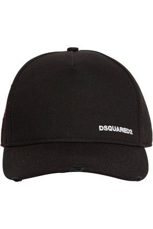 Dsquared2 Men Hats - Small Logo Cotton Gabardine Cap