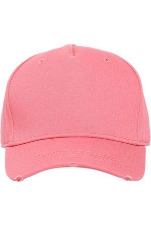 Dsquared2 Men Hats - Logo Embroidered Cotton Gabardine Cap