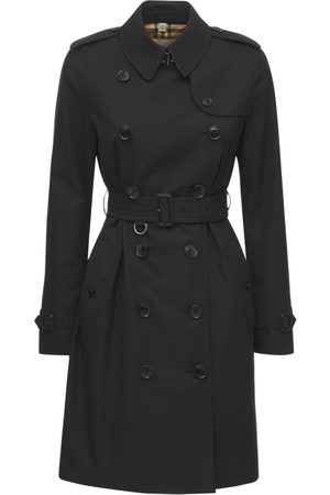 Burberry Mid-length Kensington Canvas Trench Coat