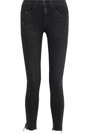 NILI LOTAN Women Skinny - Woman Distressed Mid-rise Skinny Jeans Size 24