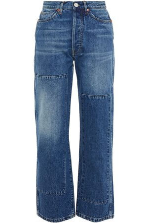 3x1 Woman Claudia Faded High-rise Straight-leg Jeans Mid Denim Size 23