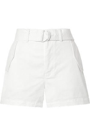 J BRAND Women Shorts - Woman Evia Surplus Belted Cotton-blend Twill Shorts Size 25