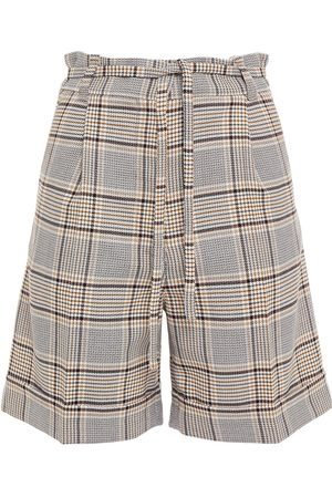Baum und Pferdgarten Women Shorts - Woman Nouga Belted Prince Of Wales Checked Jacquard Shorts Size 34