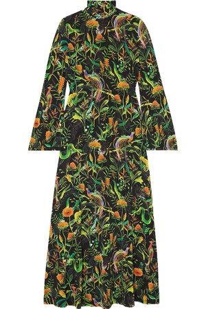 DODO BAR OR Women Casual Dresses - Woman + Annabel's Printed Stretch-jersey Turtleneck Midi Dress Size L