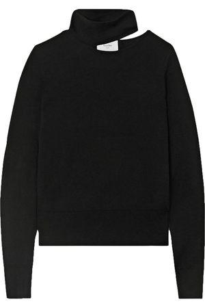 BASSIKE Women Turtlenecks - Woman Cutout Merino Wool Turtleneck Top Size 1