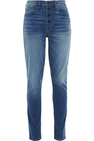 3x1 Women Skinny - Woman Poppy Faded High-rise Skinny Jeans Mid Denim Size 23
