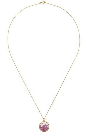 Aurélie Bidermann Women Necklaces - 18kt yellow gold baby Chivor ruby necklace - Metallic