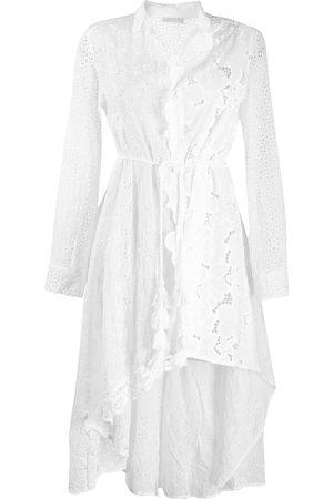 Anjuna Women Casual Dresses - Asymmetric broderie anglaise shirt dress