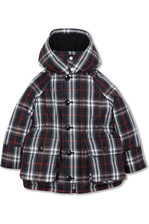 Burberry Vintage Check Down-filled Hooded Puffer Jacket