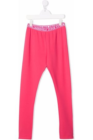 Karl Lagerfeld TEEN logo-print leggings