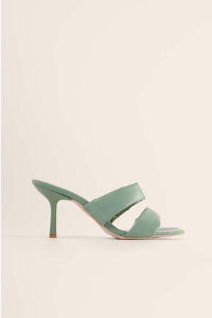 Trendyol Block Strap High Heels - Green